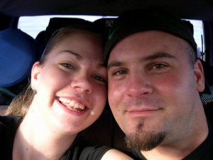 Erin Newton (nee Curtin) and her husband, Josh