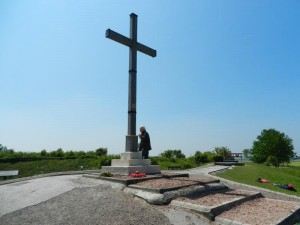 Head Honcho Rhino Eric Delve, the Cross, Lochnagar Crater, La Boiselle, France