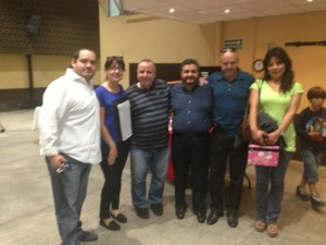 Benny Osorio, Norma Cardnas, me, Enrique Cardenas, Richard & Ceci  Vasconcelos, at the Pastor's breakfast, Saturday