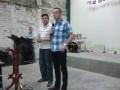 Pastor proper preacher Englishman Simon in action!