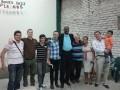 The long and short next to each other! - L-R: Johan, Nick, I don't know!, Simon, Victor, moi, Aida, Hernan x2