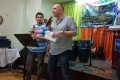 Chris preaching tonight, with great friend Johan Nieto translating