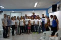 The Pastor & leadership team, with my team, from the church 'Misionera Hay una luz' (Mission 'There is light')