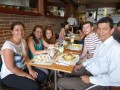 Caroline, Carly, Grace, Peter, and my lovely friend, Wilmar, suffering for the Kingdom at Crepes and Waffles restaurant!
