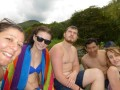 A 'Bennison team' suffering for the gospel, at the river at Pance... Pete got baptised that day... :)