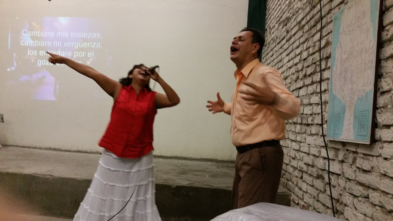 Hernan & Aida, Pastors of New Birth church - tonight's meeting for us