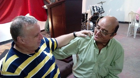Guillermo, a dear man, totally healed of all arthritic pain in his body tonight