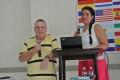With Luz Estella, Pastor, translating