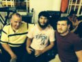 Peter, right, had just prayed for Jhonny, centre: a steel plate & six steel screws in Jhonny's ankle had dissolved
