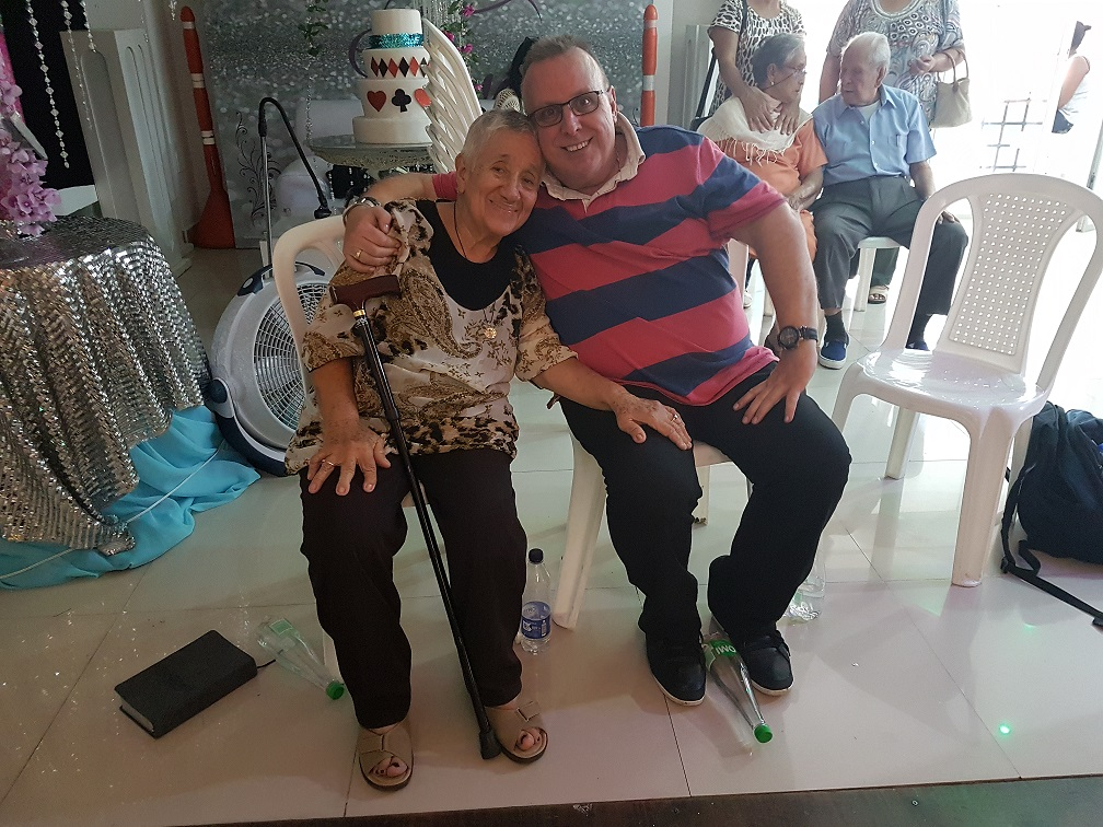 The lovely lady who was healed while I was speaking on Sunday, of osteoathritis everywhere, after a lifetime of pain